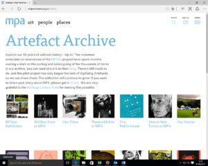 Screenshot - of archive website - 1.2.17